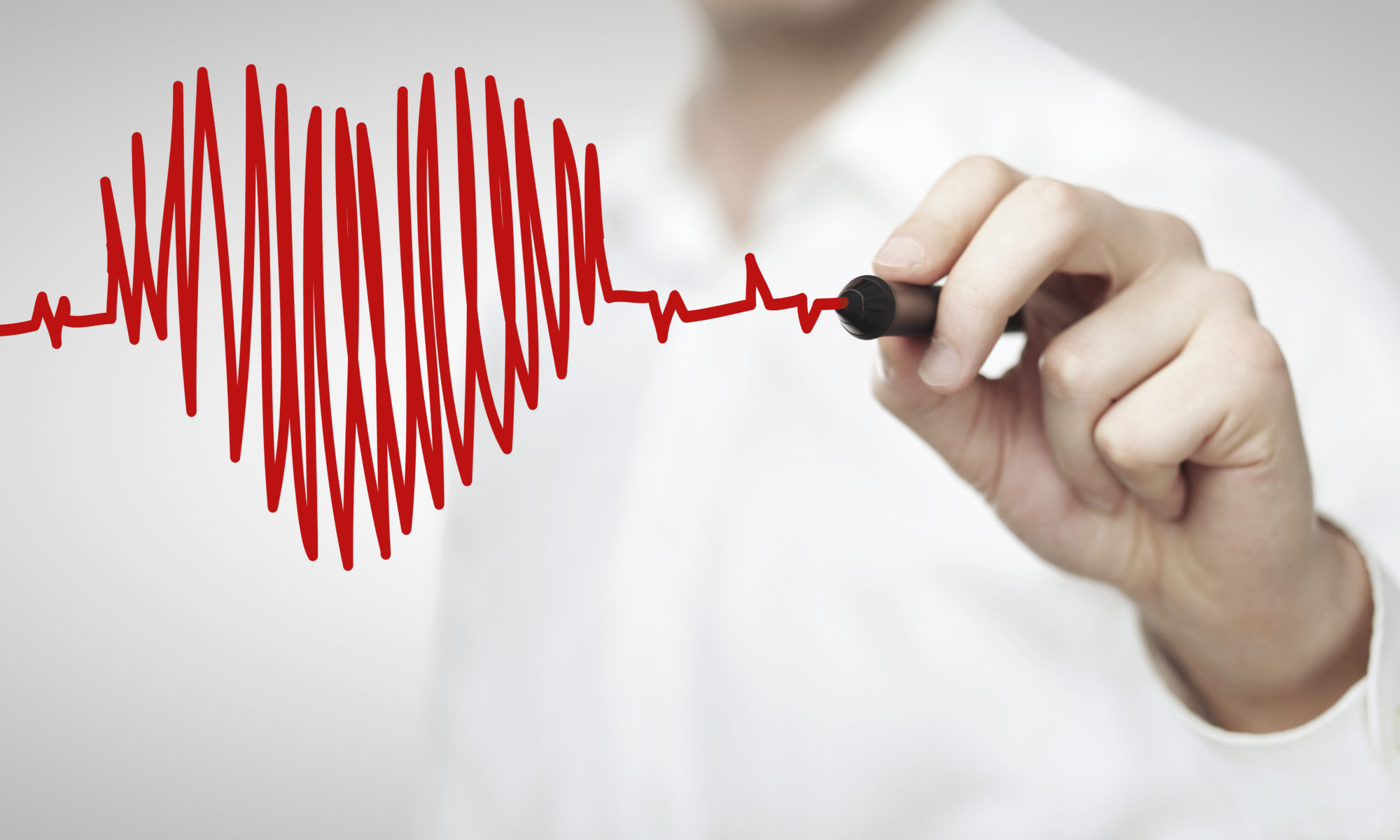 7 Ways To Improve Your Heart Health; High resolution man drawing chart heartbeat